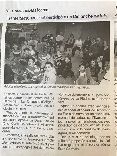 article Ouest France 2017 mars